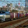 1月7日撮影 東海道線 平塚~大磯間 ① 新年初貨物列車撮影 5075ㇾ 3075ㇾ