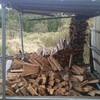 薪ストーブ始生代104 薪棚倒壊。春の嵐にご用心