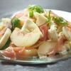 桃と生ハムとモッツァレラの冷製パスタのレシピ
