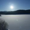 冬の忠別湖。
