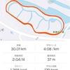 目標死守の30km走