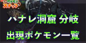 ハナレ洞窟分岐と出現ポケモン一覧【ポケモンスナップ】