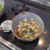 幸運な病のレシピ( 2119 )朝:蕗とタケノコの煮付け、鮭、豚肉の重ね焼き、味噌汁