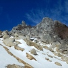 南アルプス 鳳凰山もやっと雪景色
