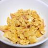 朝食:みそ汁、炒り玉子