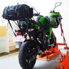 Z125PROグリーンに乗っている僕のヘルメット