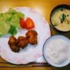 夕食:チキンカツ