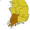 地域別感情の韓国型分類について