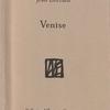 Jean Lorrain『Venise』(ジャン・ロラン『ヴェニス』)