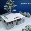 雪景色の模型/撮影