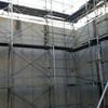 新設コンクリート打ち放しモルタル補修跡の美装