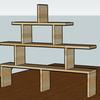 日曜大工 ―ロフトの棚の3D設計図―