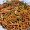 12月14日(金)カレー風味の焼きそばと、3日連続のサバの塩焼き。