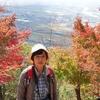 日本 背景は文殊公園の紅葉