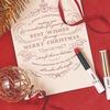 コスメ買取 「オペラ シアーリップカラー N」のクリスマス限定カラー、星のように輝くラメを閉じ込めた青みレッド