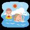 8月最後の海水浴 と ああ孫たち!