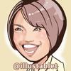 iPadProで描いた 松本薫さんの似顔絵。