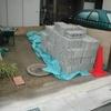 ブロック塀の積み替え03化粧ブロックの積込み