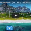 ノルウェー上空をゆったり遊覧飛行