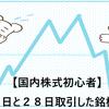 【国内株式初心者】5月26日と28日取引した銘柄の記録