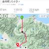 自転車通勤、往路45km、復路140km