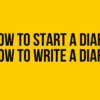 日記を始めるタイミングと書くべきタイミング