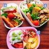 【お弁当】簡単!豚こまカレー炒めと鮭弁当