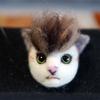 フェルト 猫の顔ブローチ - その弐 -