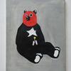 先日売り切れた目出し帽をかぶった熊の絵を描きました