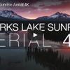 湖面に映る朝日 スパークス湖の荘厳な日の出