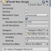 Unity ScrollViewをフリックで操作する