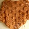 【かぎ針編み】ぶどうの三角ショール・編みあがり