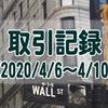 【取引記録】2020/4/6週の取引(利益$475、含み損$-18,512)