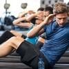 クランチによる筋肥大と伸張性筋収縮(伸張性エクササイズは筋のより大きな損傷を伴い、乳酸、水素イオン、無機リン酸などの代謝産物が増加することにより、筋肥大が誘発される)