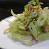 グリーンオリーブとフキのサラダ