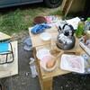 薪ストーブで羽釜を使ったごはん炊き9回目。都農町のふるさと納税返礼品で焼き肉だ!!