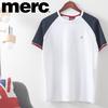メンズ Tシャツ ラグランスリーブ トリコロール ホワイト ネイビー レトロ   MERC LONDON(メルクロンドン)