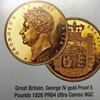イギリス1826年ジョージ4世5ポンドPCGS PR64DCAM