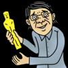 アカデミー賞を受賞する男性 のイラスト