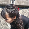 小学校卒業式の髪の毛セット料金