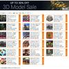 3D Model Sale あらゆるジャンルの3Dモデルが大集合!素材系に特化した7日間の大セール