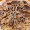 サイゼリヤ季節限定「スープ入り塩味ボンゴレ」「根菜のミックスピクルス」頂きました^^
