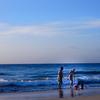 ハワイ島ハプナビーチの海と空
