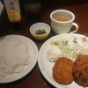 上野▪御徒町【肉の大山 上野店】メンチ&コロッケ定食 ¥680