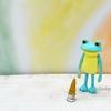 すべてがおしまいになったカエル マスコットフィギュア ~ソフトクリームが・・・~