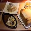 🚩外食日記(615)    宮崎ランチ   「マガリ(Magari)」④より、【厚切りブレッドキーマディップ(スープサラダセットチーズ添え)】‼️