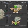 Blender2.8でモンスター型のキャラクターモデルを作成する その4(尻尾オブジェクトの動作ボーンの作成)