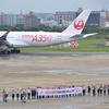 JALのA350初便の出発も見えた福岡空港のANAラウンジは最高の撮影環境だ!