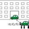 「校舎の隙間に車すっぽり大作戦!」