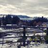 初雪を見ながら友家ホテルへ。